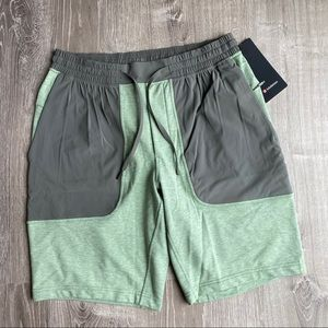 lululemon City Commute Shorts Heathered Green Grey